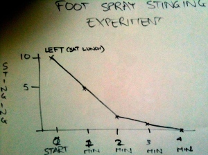 The Foot Stinging Experiment
